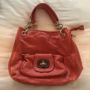 Burnt orange purse